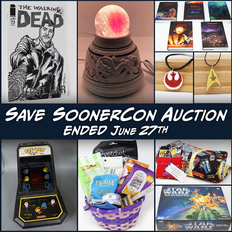 Auction picture featuring several auction items